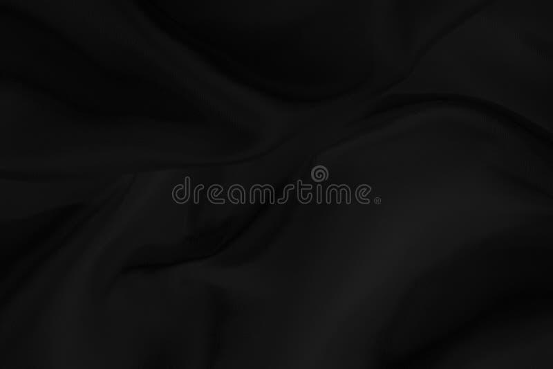 Czarna tkaniny tekstura dla tła, piękny wzór jedwab lub pościel, fotografia royalty free