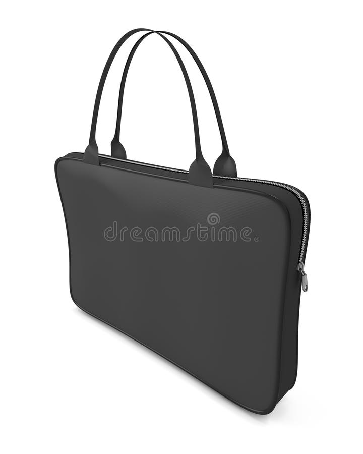 Czarna torba dla laptopu ilustracja wektor