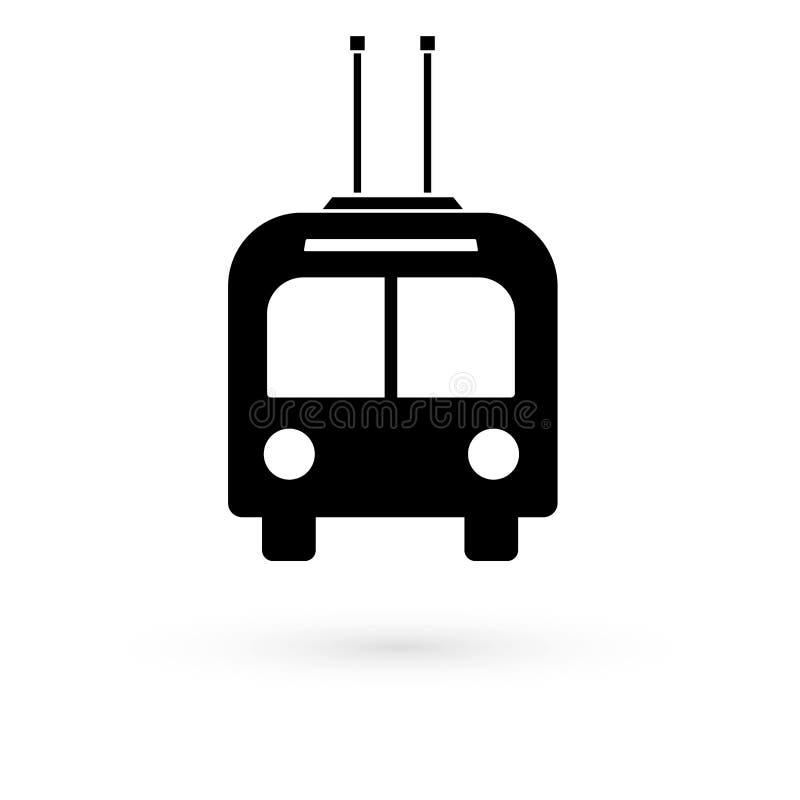 Czarna tramwaj ikona raster ilustracja wektor
