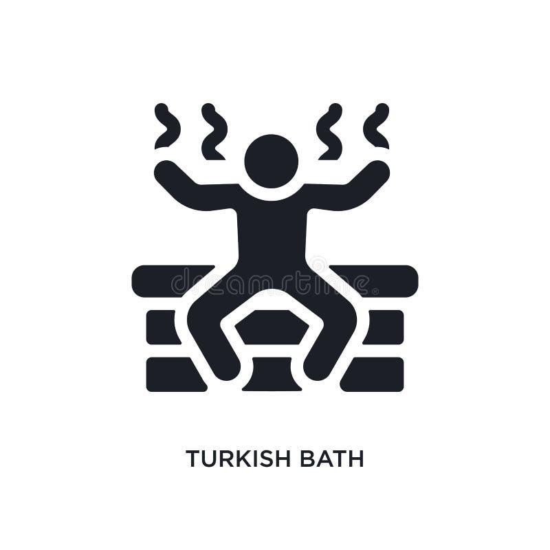 czarna tureckiego skąpania odosobniona wektorowa ikona prosta element ilustracja od sauna pojęcia wektoru ikon tureckiego skąpani ilustracji
