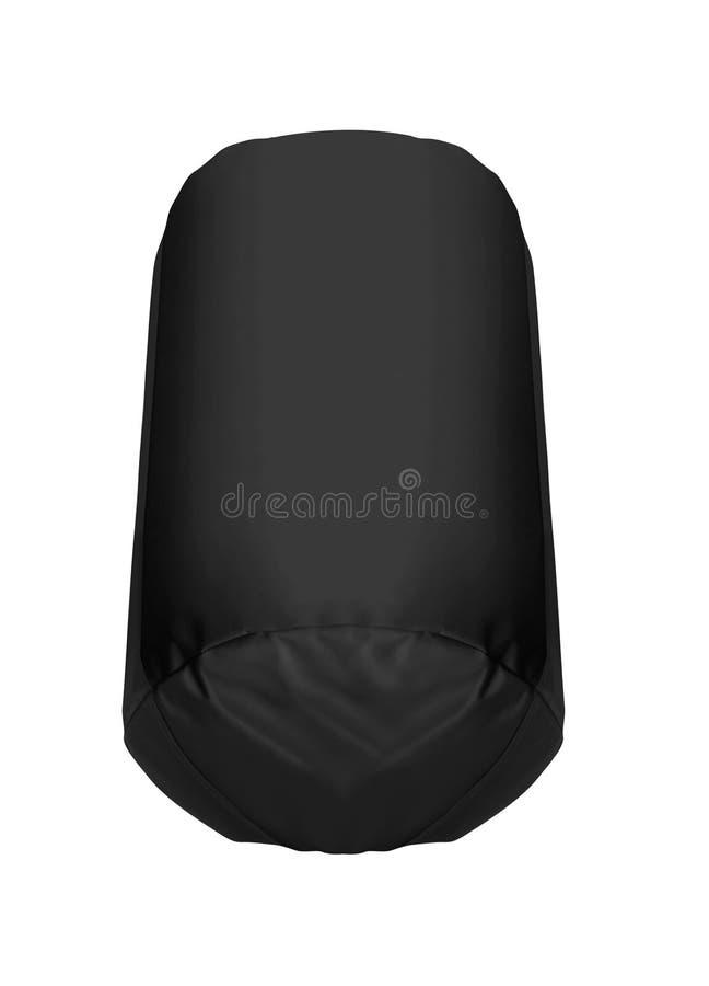 Czarna Uderza pięścią torba odizolowywająca obrazy stock