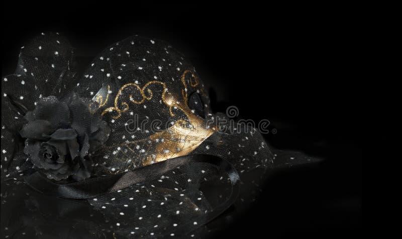 Czarna złoto maska obraz royalty free