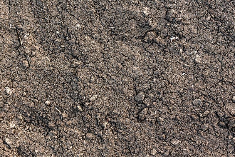 Czarna ziemska tekstura zdjęcia royalty free