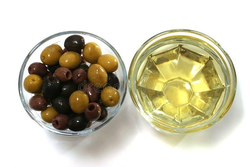 czarne brązową zielone oliwki oliwki oleju zdjęcie stock