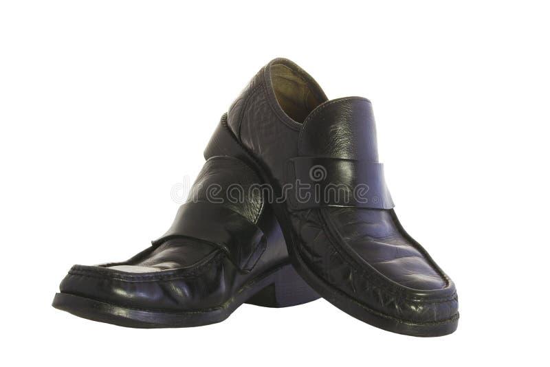 czarne buty fotografia stock