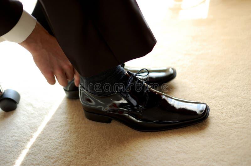czarne buty zdjęcia royalty free
