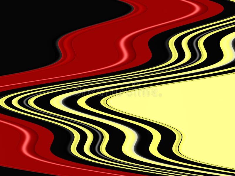 Czarne czerwone żółte rzadkopłynne geometrie, abstrakcjonistyczny żywy tło, abstrakcjonistyczna tekstura ilustracji