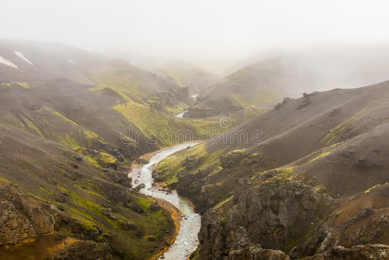 Czarne góry Kerlingarfjoll Iceland fotografia royalty free