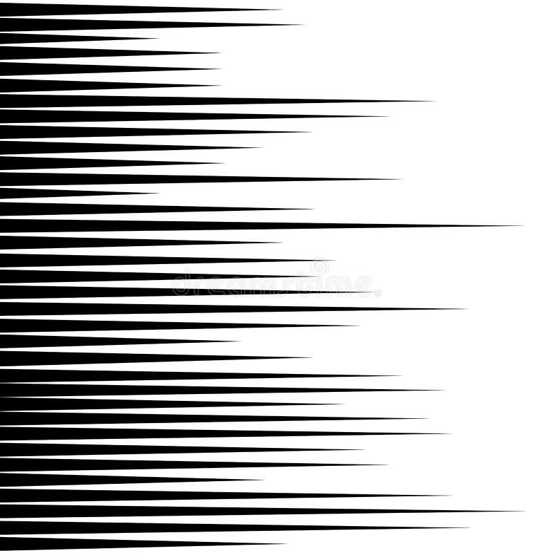 Czarne horyzontalne wektor linie Komiksu projekta stylowa prędkość, starze się naprzód ilustracji