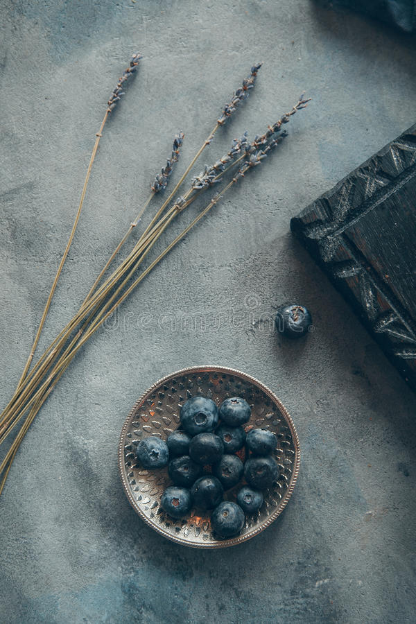 Czarne jagody zdjęcia stock