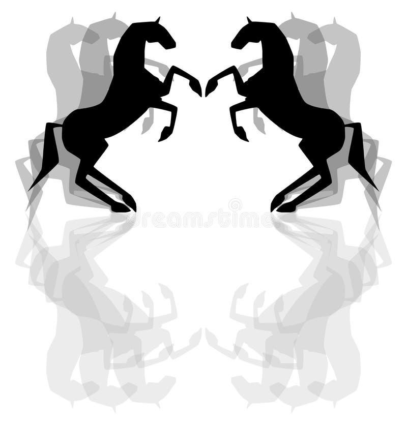 czarne konie fotografia royalty free