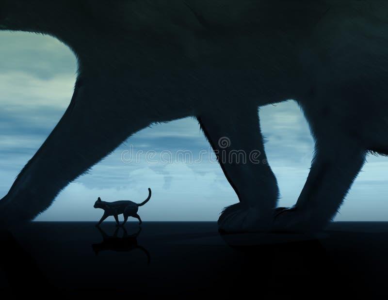 czarne koty royalty ilustracja