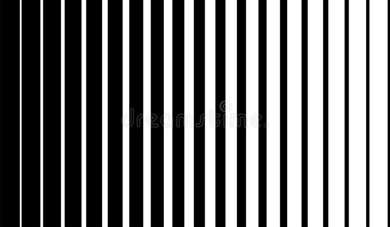 Czarne linie pionowe na białym tle półtonowym Liniowa ilustracja graficzna Wiersze pionowe Element geometryczny Geometryczny ilustracja wektor