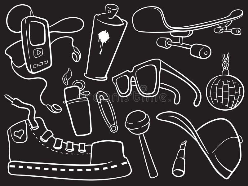 czarne miasto ikony ilustracji