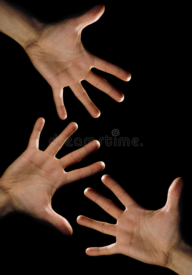 czarne ręce obraz royalty free