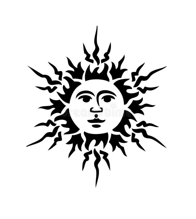 czarne słońce ilustracja wektor