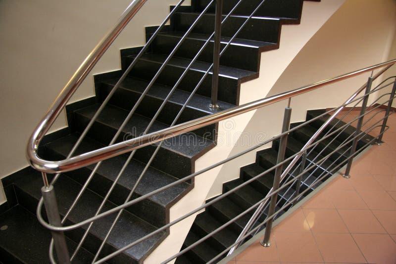 czarne schody obrazy stock