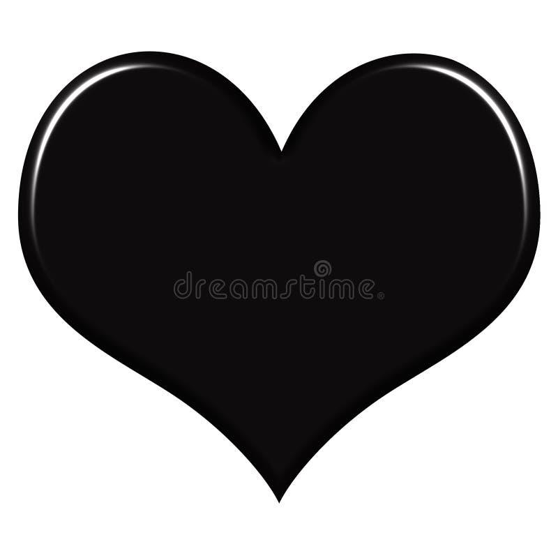 czarne serce 3 d ilustracji