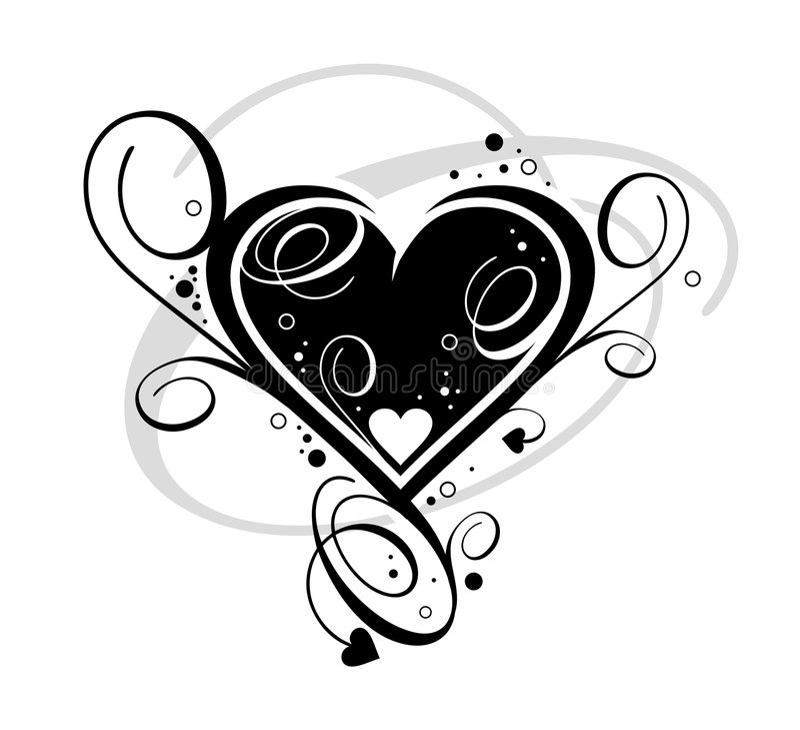 czarne serce royalty ilustracja