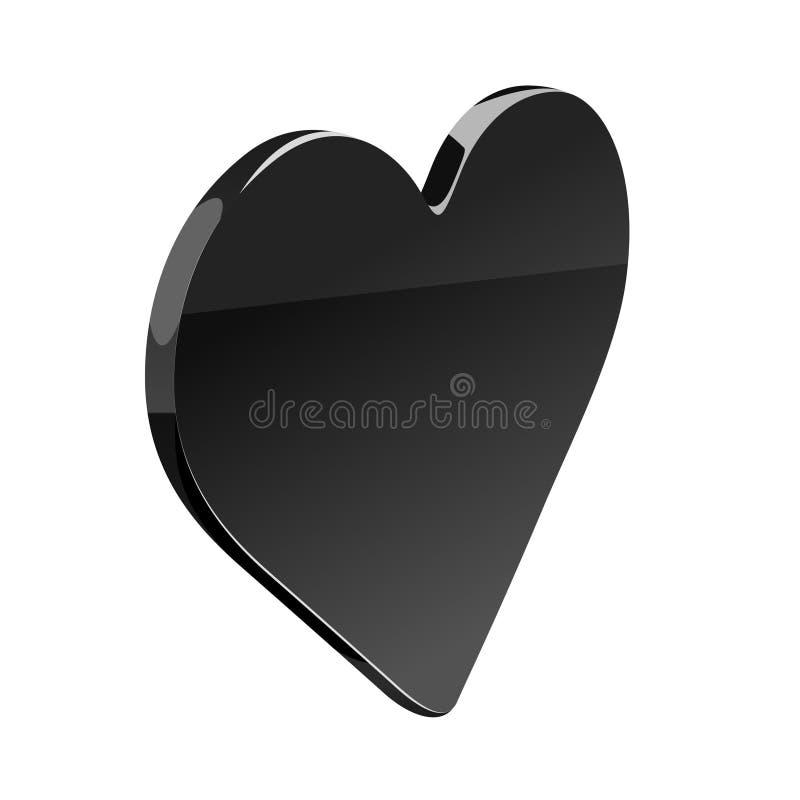 czarne serce ilustracja wektor