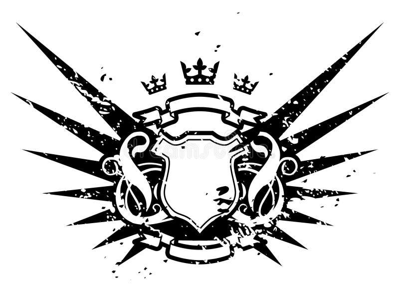 czarne skrzydła ilustracja wektor