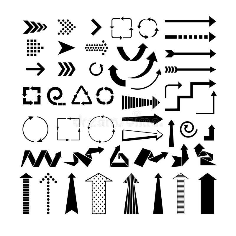 Czarne strzała royalty ilustracja