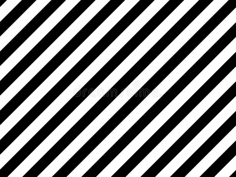 Czarne ukośne paski na białym tle ilustracja wektor