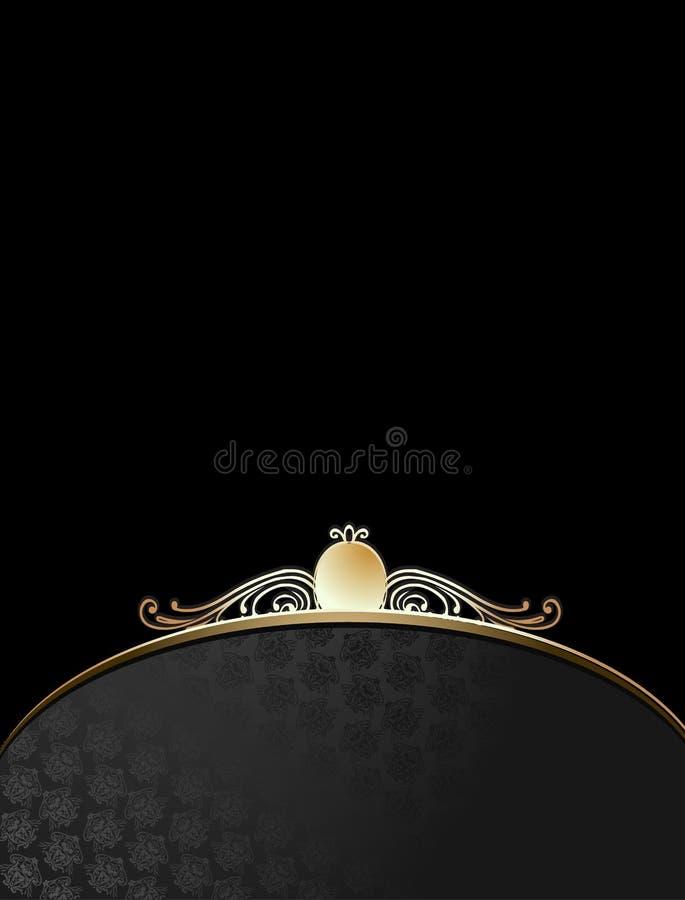 czarne złoto ozdobny tła royalty ilustracja