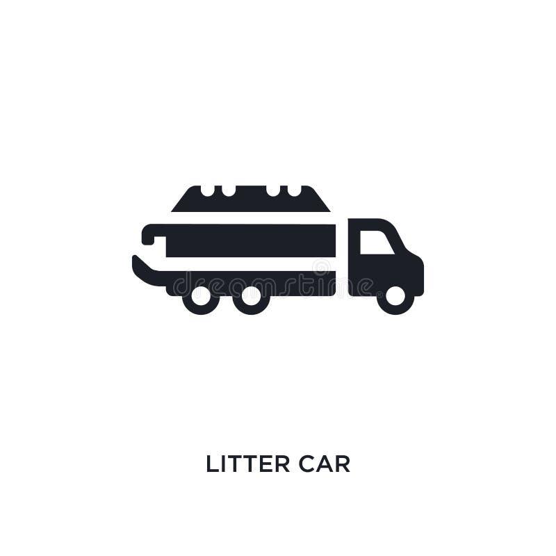 czarnego ściółka samochodu odosobniona wektorowa ikona prosta element ilustracja od transportu pojęcia wektoru ikon ściółka samoc ilustracji