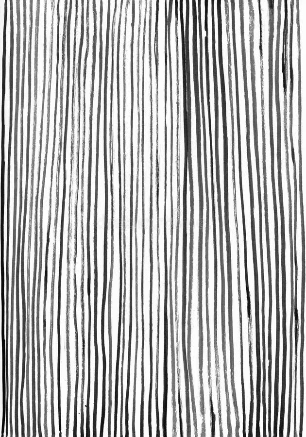 Czarnego atramentu pionowo lampasów abstrakcjonistyczny tło ilustracja wektor