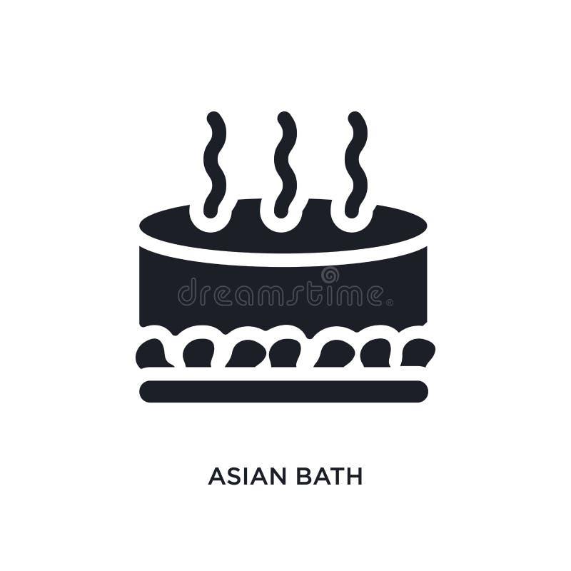 czarnego azjaty skąpania odosobniona wektorowa ikona prosta element ilustracja od sauna poj?cia wektoru ikon azjaty kąpielowy edi royalty ilustracja