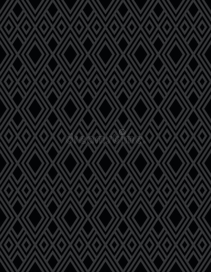 Czarnego diamentu wzoru tło ilustracji