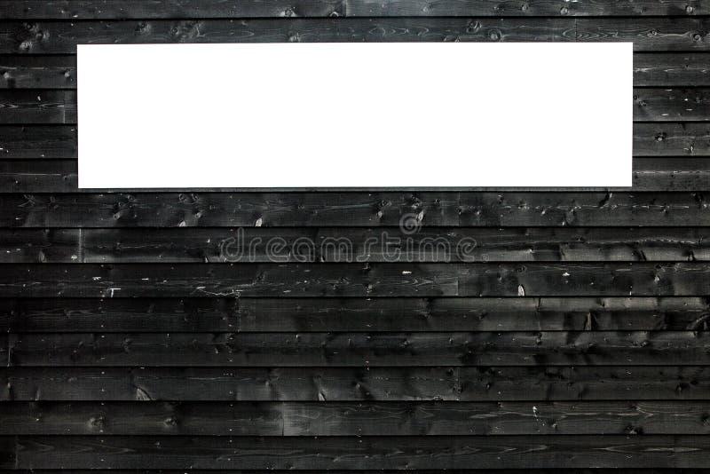 Czarnego drewnianego tekstury deski tła grunge rocznika biały nadokienny horyzontalny zdjęcia stock
