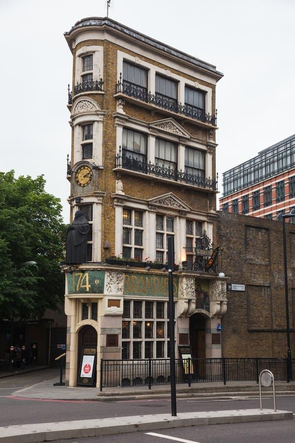 Czarnego Friar Karczemny Londyński UK fotografia stock