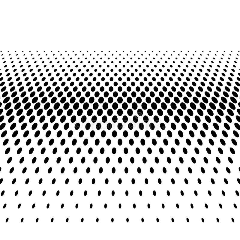 Czarnego halftone gradientu bilinearna horyzontalna linia kropki w diagonalnym przygotowania na bia?ym tle streszczenie retro ilustracja wektor