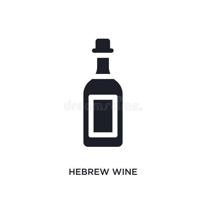 czarnego hebrew wina odosobniona wektorowa ikona prosta element ilustracja od religii poj?cia wektoru ikon hebrew wina editable l ilustracja wektor