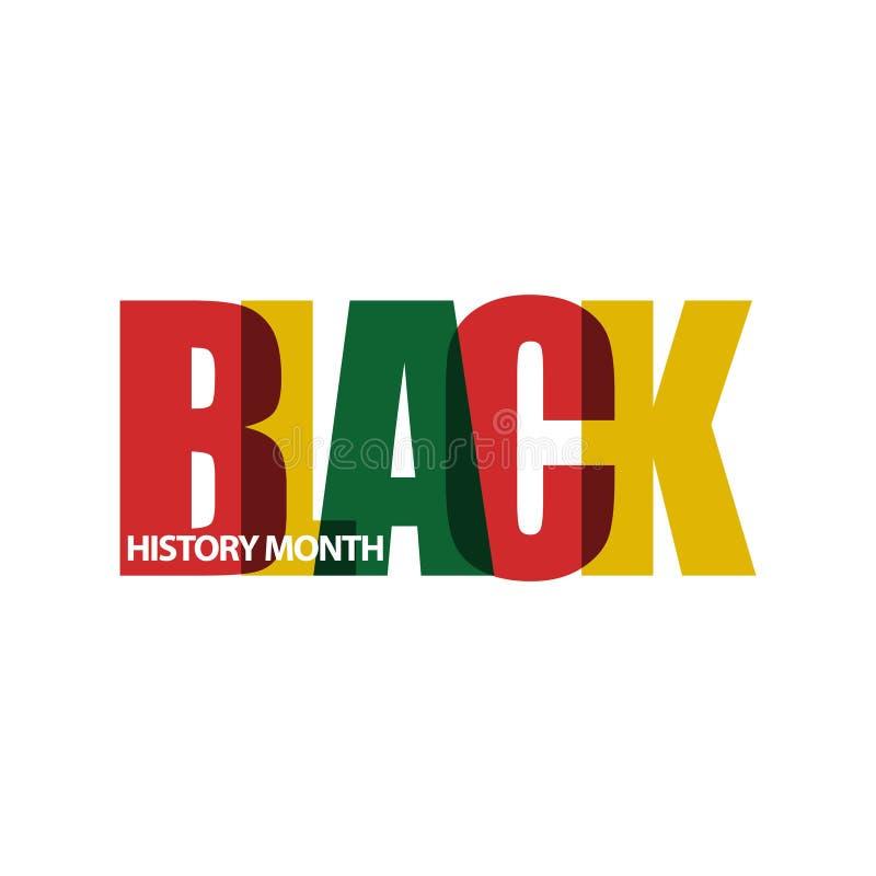 Czarnego historia miesiąca projekta Wektorowa ilustracja ilustracja wektor