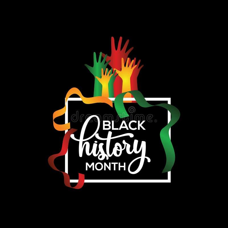 Czarnego historia miesiąca szablonu projekta Wektorowa ilustracja ilustracji