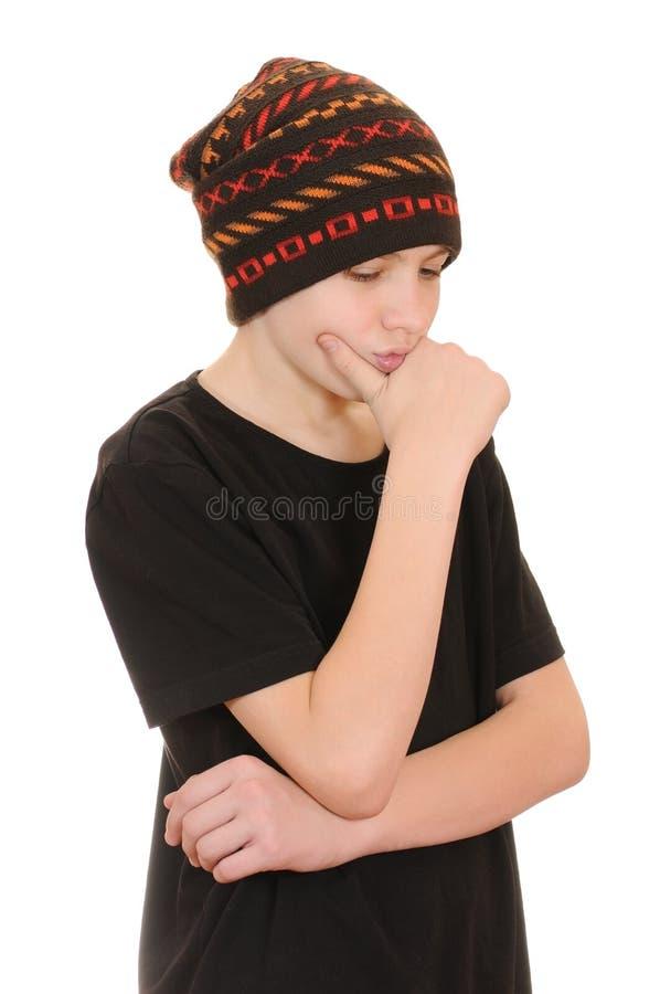 czarnego kapeluszu nastolatka kamizelka fotografia stock