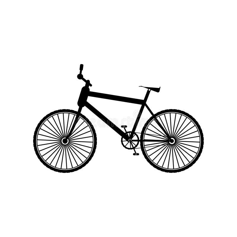 Czarnego koloru rowerowa ikona - wektorowa ilustracja royalty ilustracja