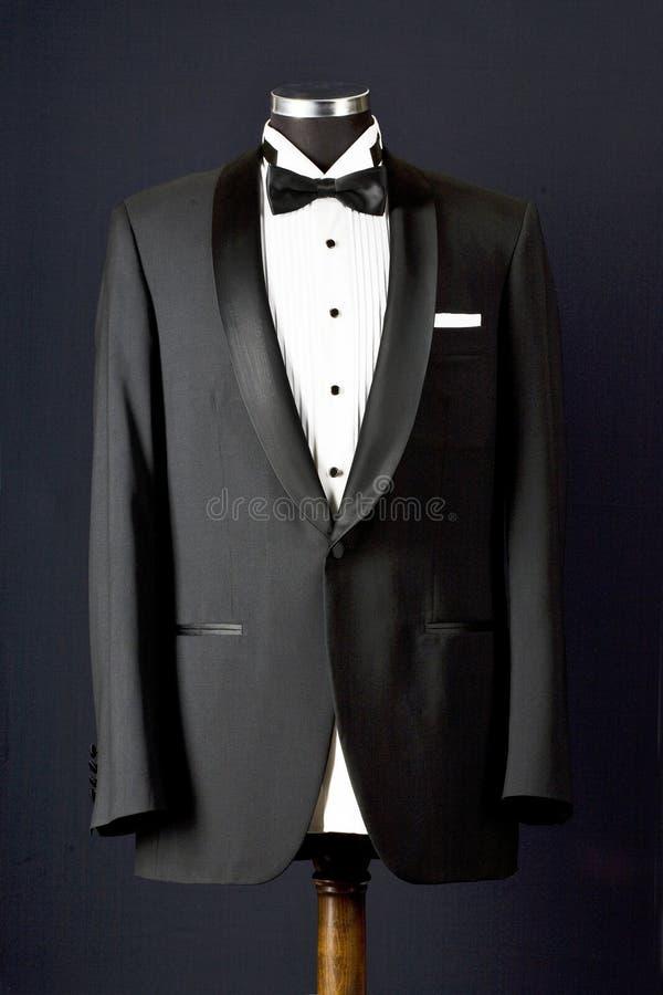 Czarnego krawata smoking zdjęcie royalty free