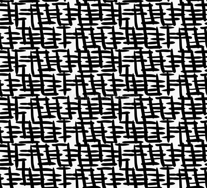 Czarnego markiera lągów gęsty skrzyżowanie royalty ilustracja