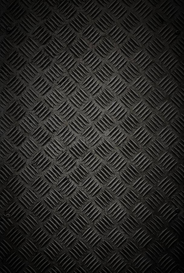 Czarnego metalu Checker talerza Ścienna i Podłogowa tekstura obrazy royalty free