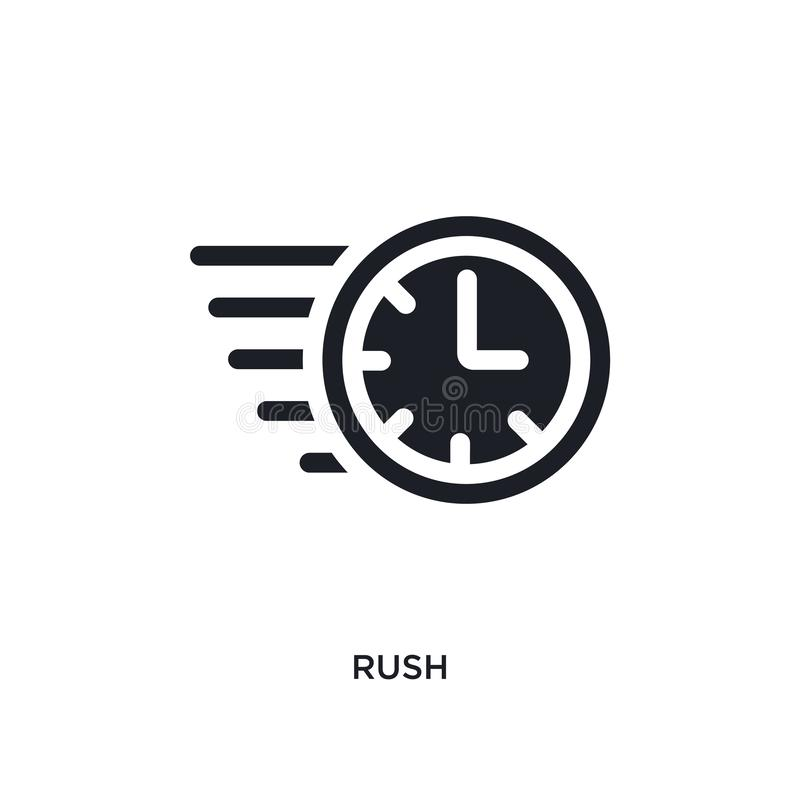 czarnego pośpiechu odosobniona wektorowa ikona prosta element ilustracja od czasu zarządzania pojęcia wektoru ikon pośpiechu logo ilustracji