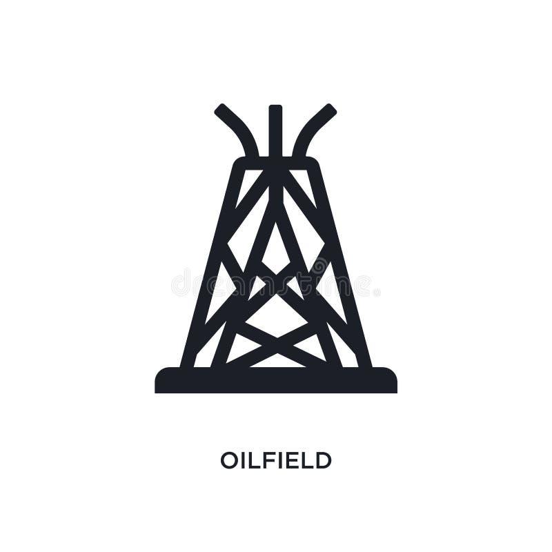 czarnego pola naftowego odosobniona wektorowa ikona prosta element ilustracja od przemys?u poj?cia wektoru ikon pole naftowe logo ilustracja wektor