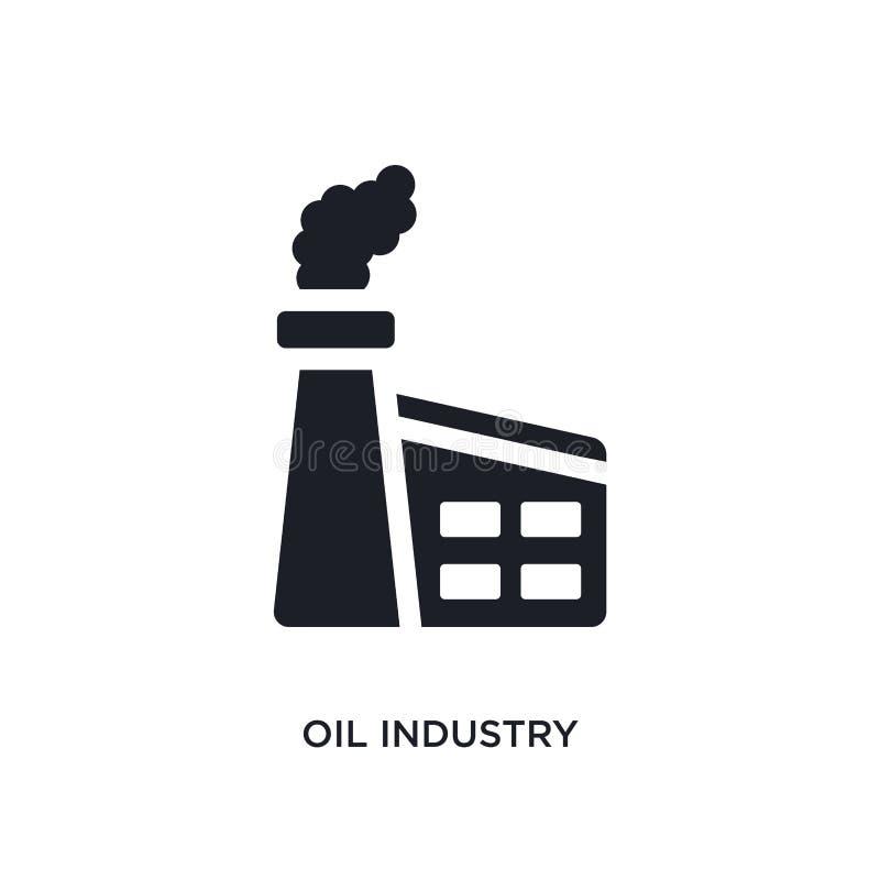 czarnego przemysłu paliwowego odosobniona wektorowa ikona prosta element ilustracja od przemysłu pojęcia wektoru ikon przemysł pa ilustracja wektor