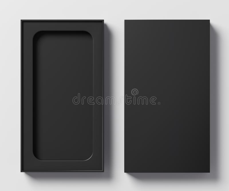 Czarnego pudełka szablon dla telefonu - 3D ilustracja ilustracja wektor