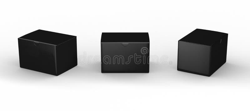 Czarnego pustego miejsca pudełkowaty pakować z ścinek ścieżką ilustracji