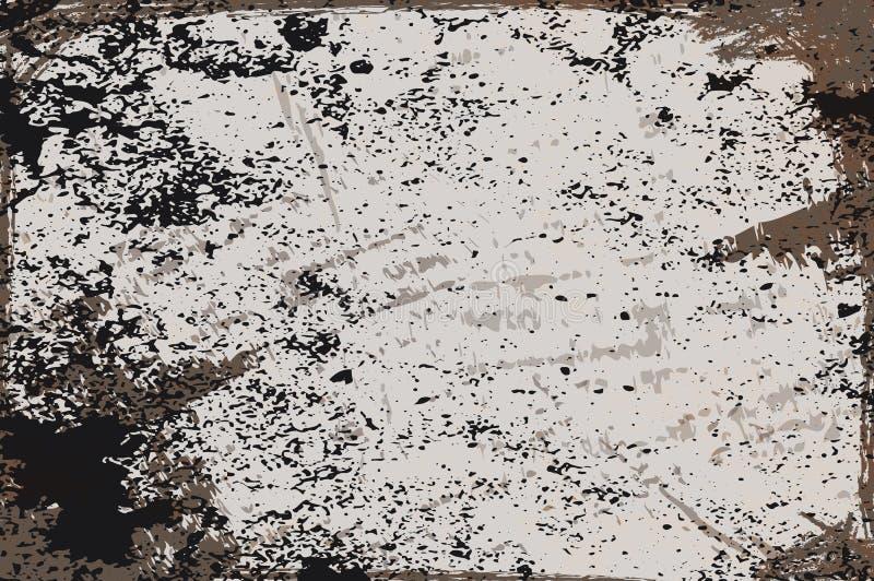 Czarnego rocznika grunge abstrakcjonistyczny tło ilustracji