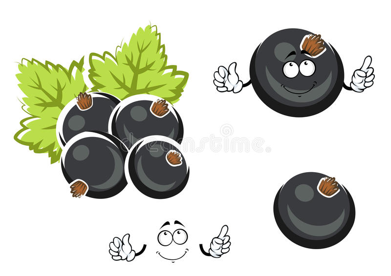 Czarnego rodzynku jagody postać z kreskówki ilustracja wektor